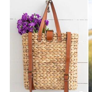 Natural Life Straw Backpack